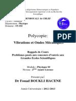 Www.espace-etudiant.net - Cours Vibrations Et Ondes Mécaniques - Université de Chlef