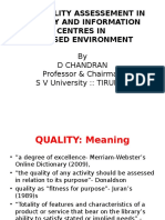 Quality Assessment in IT Based Envirnoment Mysore