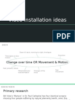 unit 35- video installation ideas