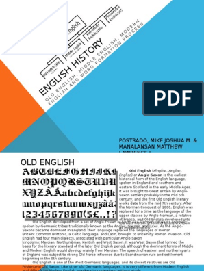 English History Pptx Anglo Saxons English Language