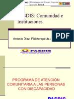 Pps Pasdis Comunidad Instituciones