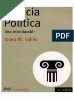 Valles, Ciencia Politica (2006)