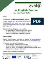 AVALON Business English Instructions