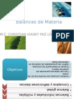 Balances de Materia 1