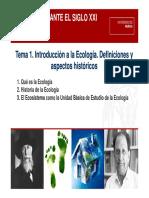 Definicion de Ecología