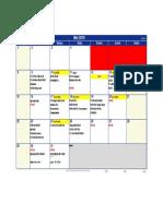 Laporan Mei 2016 Calendar