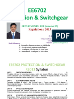EE6702-Protection and Switchgear  R2013