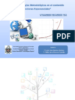 """Guía de Estrategias Metodológicas en el contenido """"Funciones Exponenciales""""  Haciendo uso de Tecnologías de la Información y Comunicación (TICs)"""