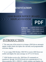 GSM Based Wireless notice board control