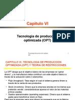 TECNOLOGÍAS DE PRODUCCIÓN OPTIMIZADA