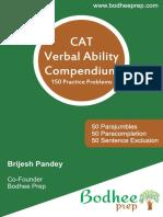 150 CAT Verbal Practice Material by Bodhee Prep
