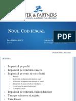 S&P Seminar Noul Cod Fiscal 2016 - Suport