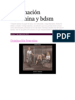 Dominación Femenina y Bdsm