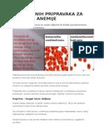 6 Prirodnih Pripravaka Za Liječenje Anemije