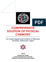 Comprehensive Physical Chemistry Solution for Master Degree Level Student of Tribhuwan University Written by Shukra Raj Regmi
