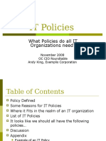 IT Policies