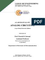 Analog Circuits II Lab Manual