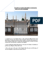 VISITING THE MASJID-E-NABWI (PROPHET'S MOSQUE) AND ACTS OF WORSHIP