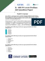 Live Leak - SBI PO 2016 Prelims Model Question Paper