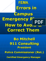 Mitchell - 17 Errors in Campus Emergency Plans