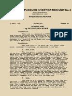 No.63 1kg Japanese Incendiary Bomb 1945