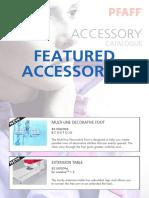 PFAFF Accessory Catalogue