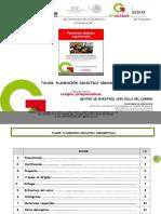 TALLER PLANEACION DIDACTICA ARGUMENTADA Etapa 2 CM1550 2016.doc