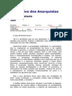 O Objetivo Dos Anarquistas