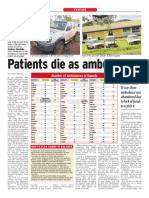 Patients die as ambulances waste away