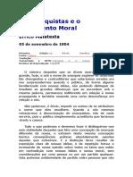 Os Anarquistas e o Sentimento Moral