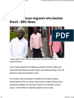 Britain's African Migrants Who Backed Brexit