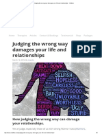 Judging the Wrong Way Damages Your Life and Relationships - Vitaflow