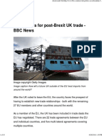 Five Models for Post-Brexit UK Trade