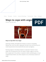 Ways to Cope With Anger - Vitaflow