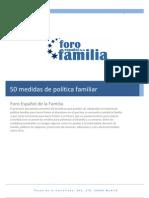 50 Medidas Politica Familiar