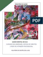 Relatório de Gestão 2011 - 2015