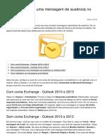 Como Programar Uma Mensagem de Ausencia No Outlook 20995 o7bdbs