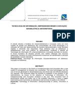 Inovação e Empreendedorismo Em Unidades de Informação - 2