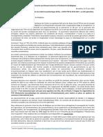 Lettre Ouverte Aux Gouvernements Et Parlements de Belgique
