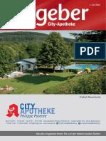 Ratgeber aus Ihrer City-Apotheke – Juli 2016