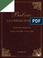 Balzac, Honore de - [La Comedia Humana (Editorial Lorenzana) 02] Modesta Mignon & Una Entrada en La Vida [24706] (r1.2)
