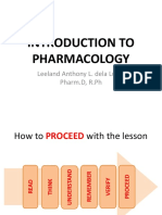 1 Introduction to Pharmacology