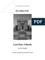 The Revealing of the Last Days Church