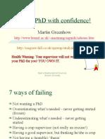 Fail Your PhD