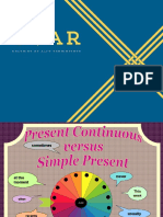 Present Simple and Continuous Wheel