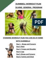 Revolving Weekly General Dumbbells Workout Program