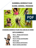 Revolving Weekly General Dumbbells Workout Program
