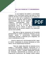Ley Organica de Pueblos Indigenas