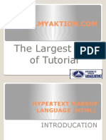 Hypertext Markup Language (HTML) Slides