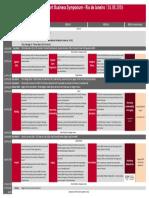 sport symposium schedule